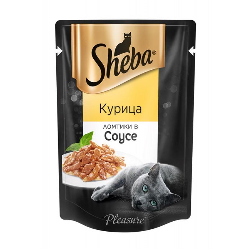 Влажный корм для кошек Sheba Pleasure курица ломтики в соусе пауч 0,85 кг