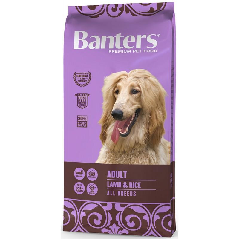 Сухой корм для собак Banters Adult ягненок с рисом 15 кг