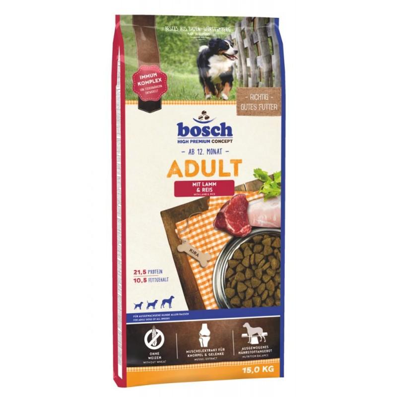Сухой корм для собак Bosch Adult с ягнёнком и рисом 15 кг