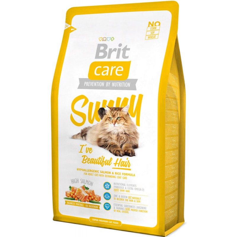 Сухой корм для кошек Brit Care Cat Sunny Beautiful Hair 0,4 кг