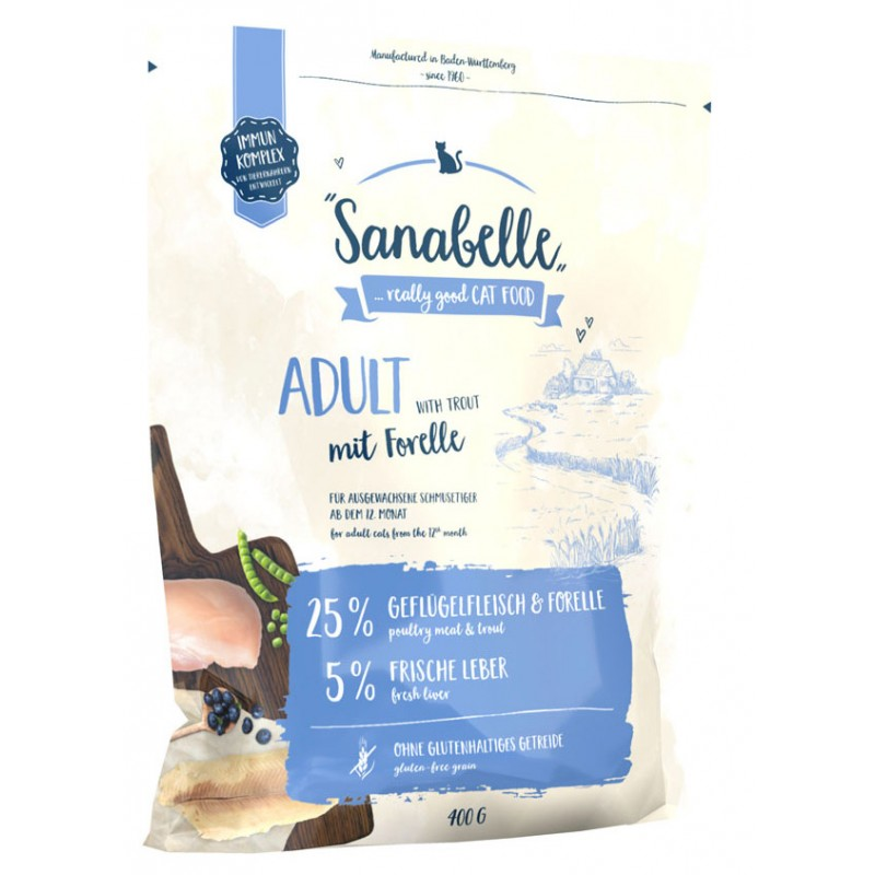 Сухой корм для кошек Sanabelle Adult with Trout 0,4 кг