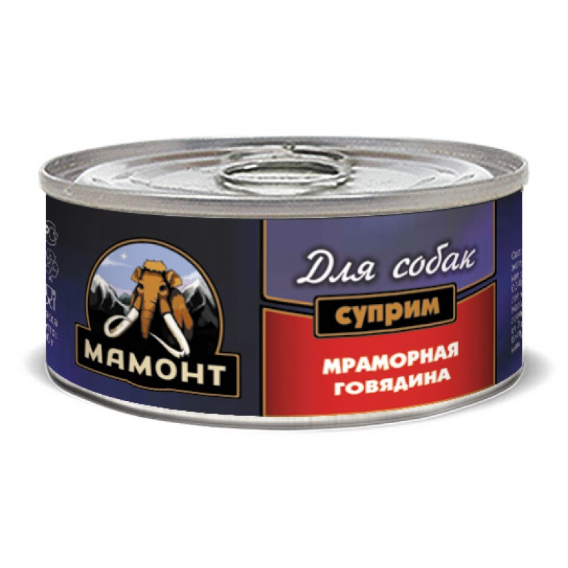 Влажный корм для собак Мамонт Суприм Мраморная говядина 0,1 кг