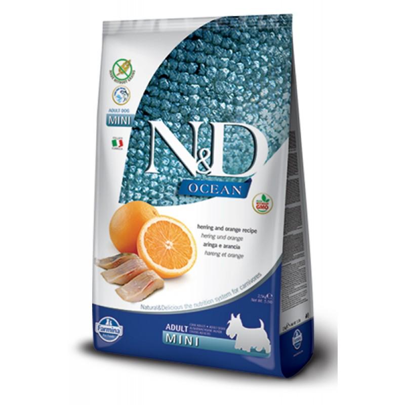 Сухой корм для собак Farmina N&D Ocean Adult Mini беззерновой с сельдью и апельсином 2,5 кг