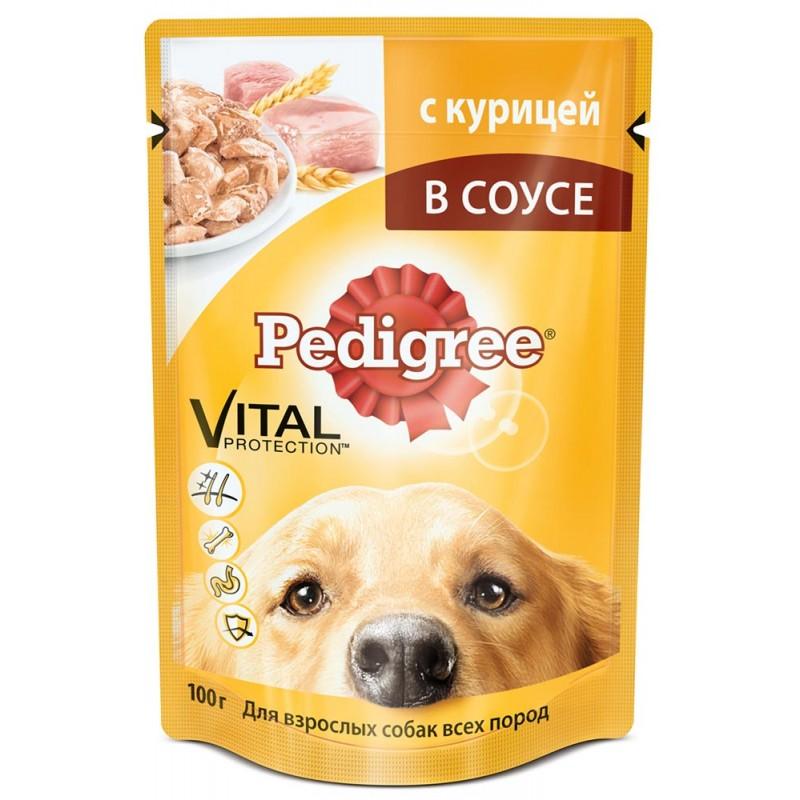 Влажный корм для собак Pedigree с курицей 28шт 0,085 кг