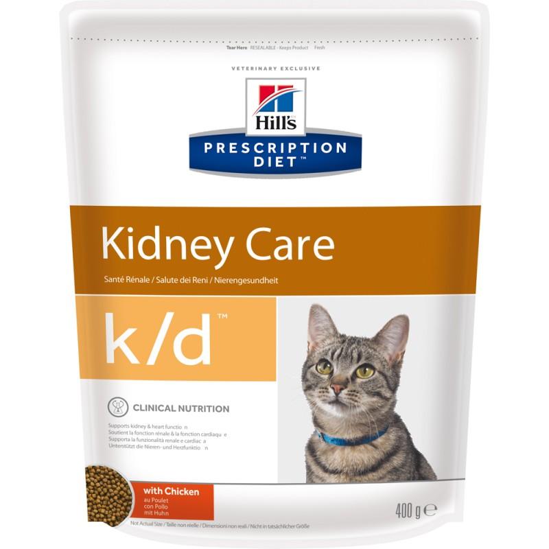 Сухой корм Hills Prescription Diet k/d Feline Kidney Care диета для кошек 0,4 кг