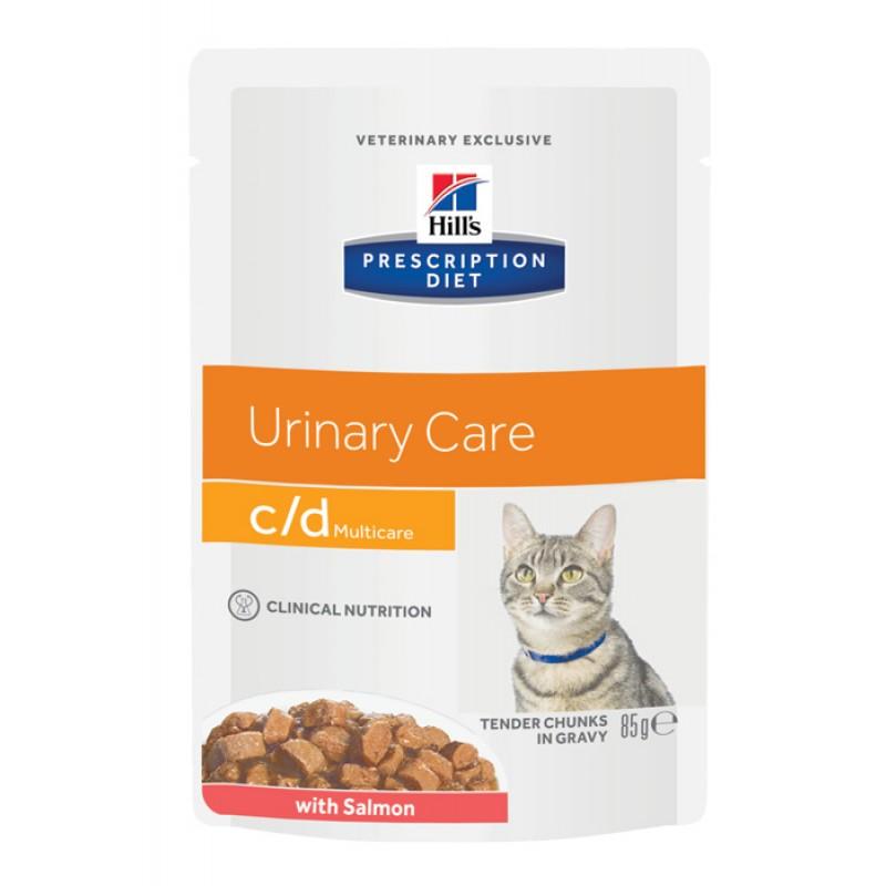 Влажный корм Hills Prescription Diet c/d Feline with Salmon Pouch диета для кошек 0,085 кг