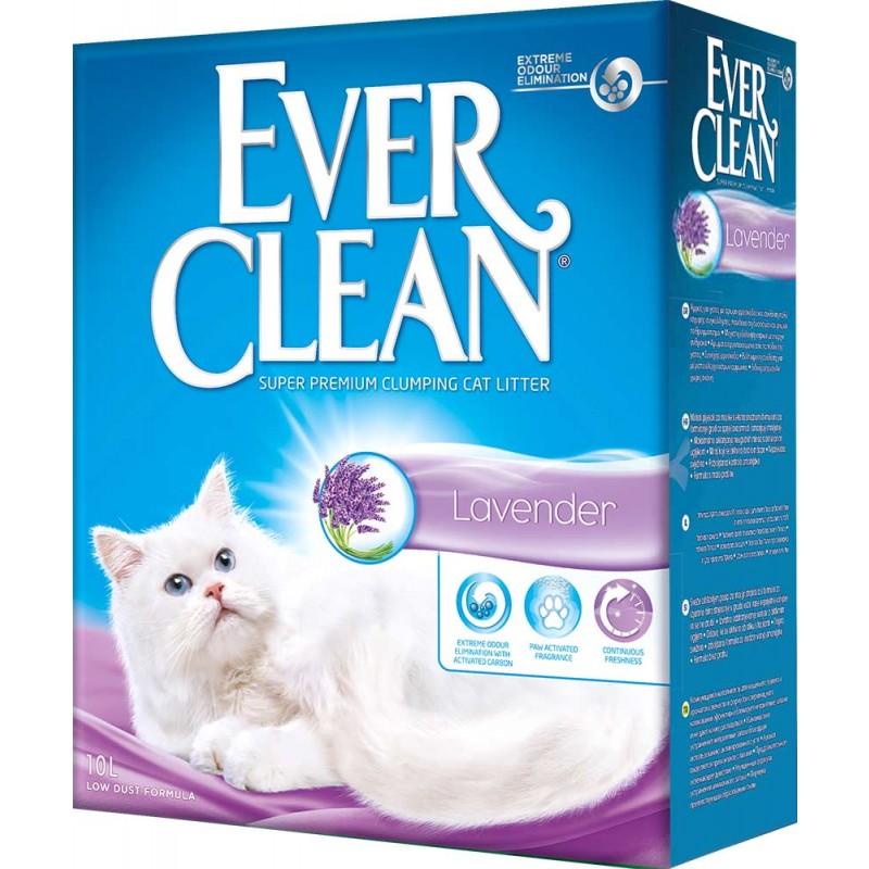 Наполнитель Ever Clean Lavender комкующийся бентонит лаванда 10кг 10 л
