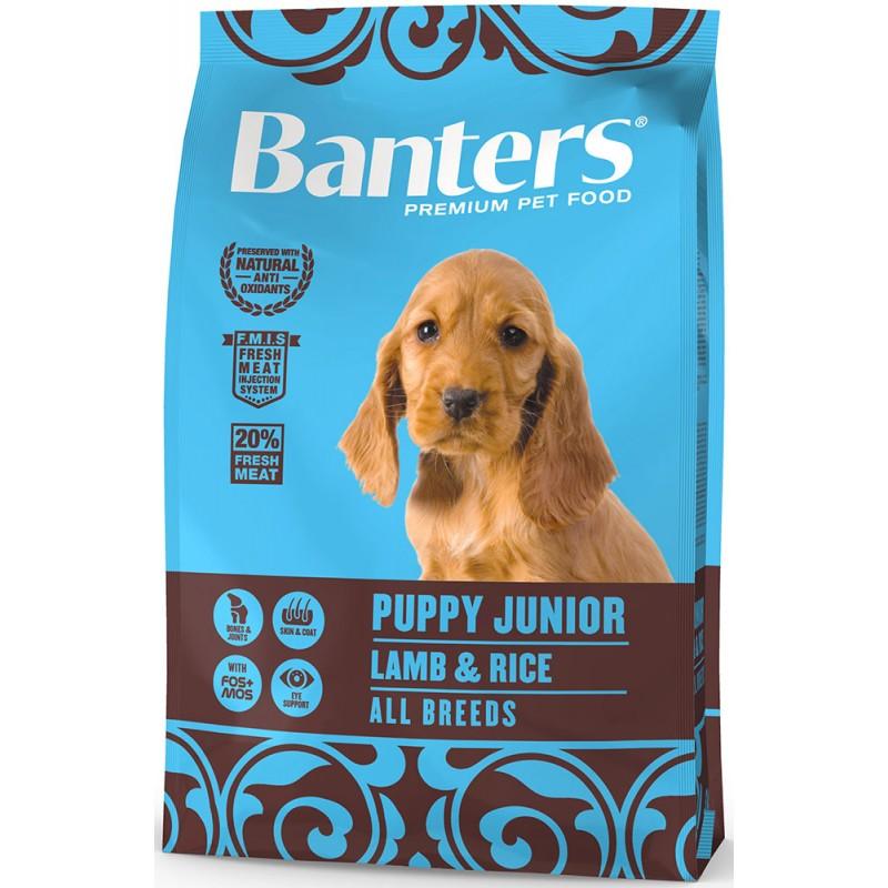 Сухой корм для щенков Banters Puppy Junior ягненок с рисом 3 кг