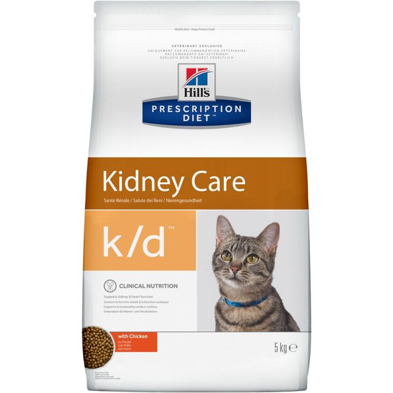 Сухой корм Hills Prescription Diet k/d Feline Kidney Care диета для кошек 5 кг