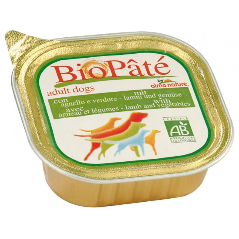 Влажный корм для собак Almo Nature DailyMenu Bio Pate Adult Dog Lamb 0,1 кг