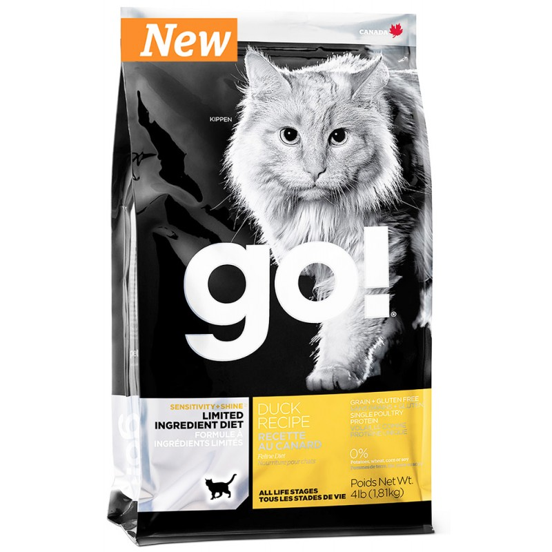 Сухой корм для кошек Go! Sensitivity + Shine Duck Cat Recipe Limited Ingredient Diet Grain Free 1,36 кг