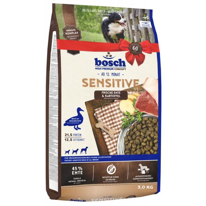 Сухой корм для собак Bosch Sensitive с уткой и картофелем 3 кг