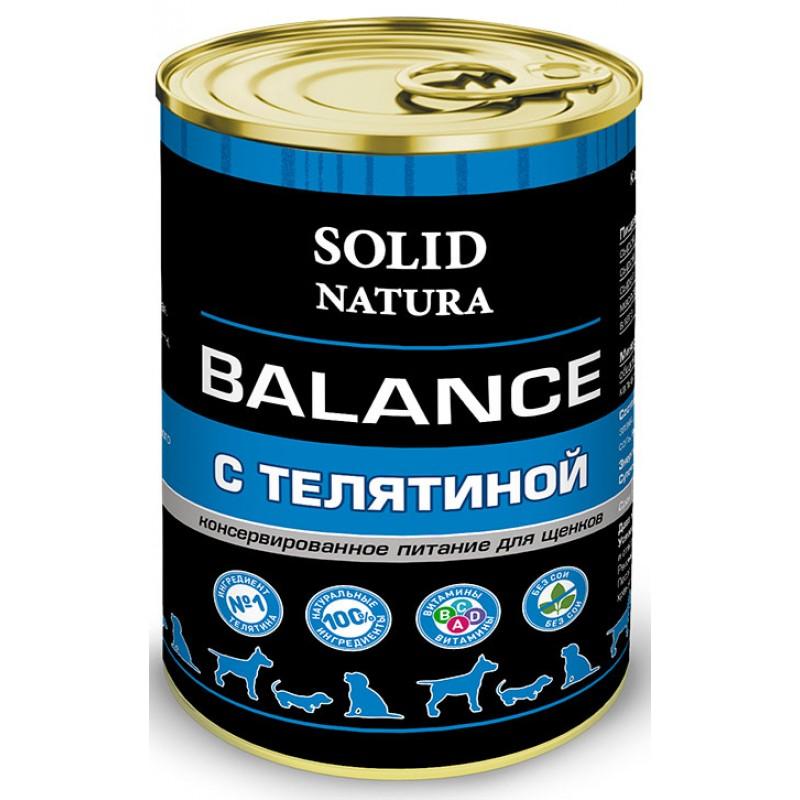 Влажный корм для щенков Solid Natura Balance Телятина 0,34 кг