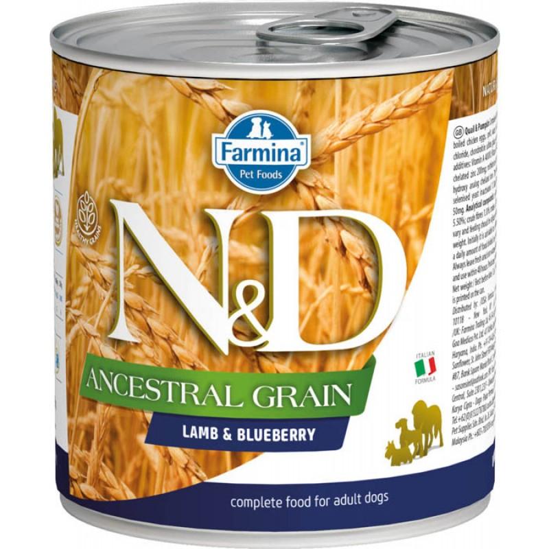 Влажный корм для собак Farmina N & D Ancestral Grain Lamb & Blueberry с ягненком и черникой 0,285 кг