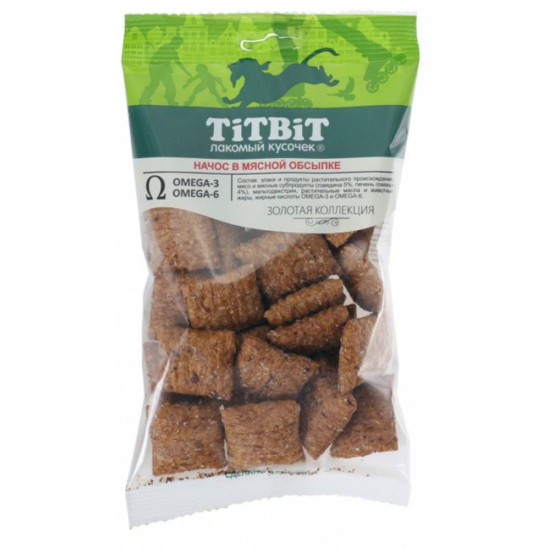 Лакомство для собак Titbit Начос в мясной обсыпке 0,075 кг