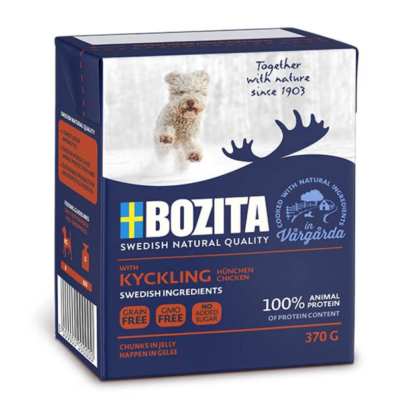 Влажный корм для собак Bozita Chicken кусочки в желе с курицей 0,37 кг
