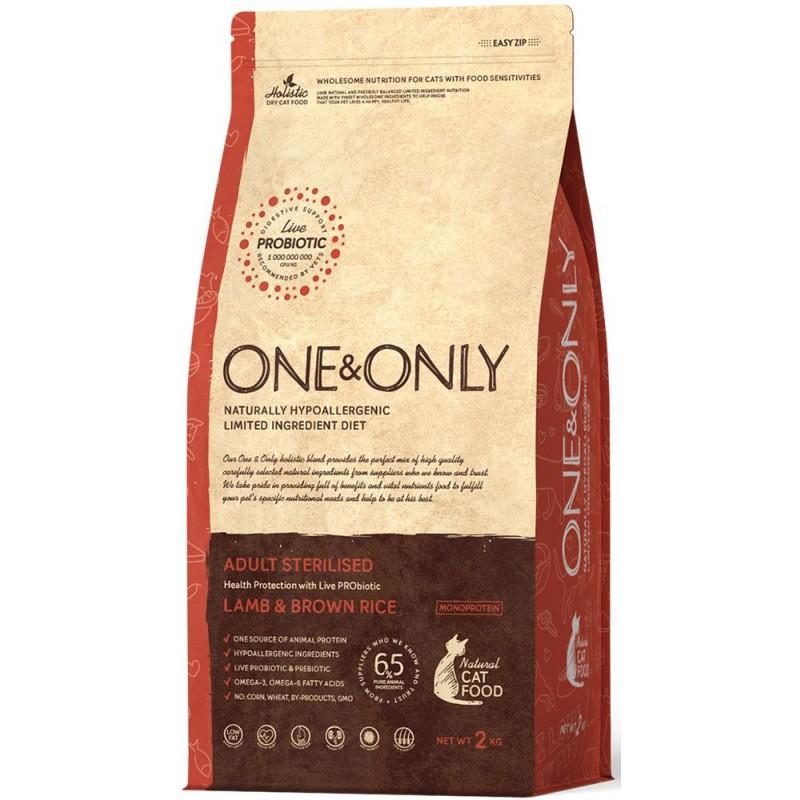 Сухой корм для кошек One&Only Lamb & Rice Adult Sterilised 2 кг
