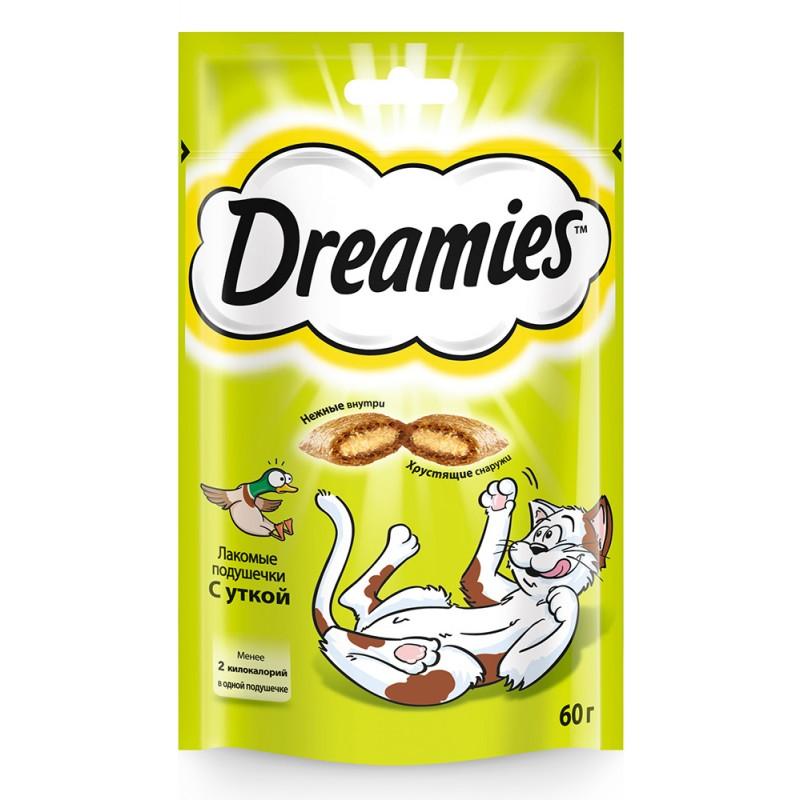 Лакомство для кошек Dreamies подушечки с уткой 0,06 кг