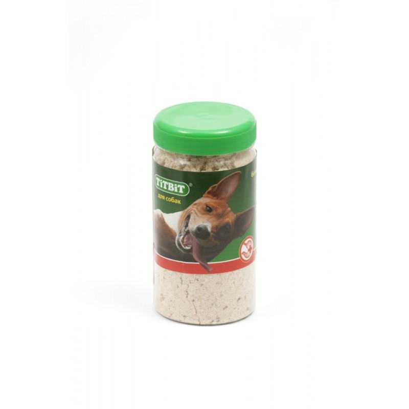 Лакомство для собак Titbit Мясокостная мука банка пластиковая 0,12 кг