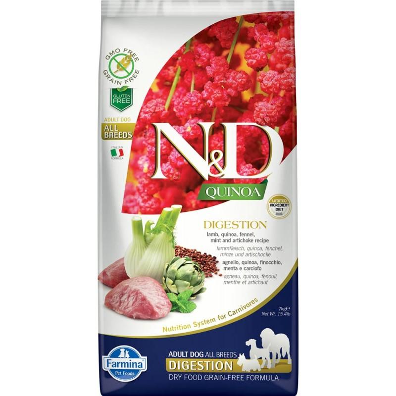 Сухой корм для собак Farmina N&D Quinoa Digestion беззерновой с ягненком и киноа 0,8 кг