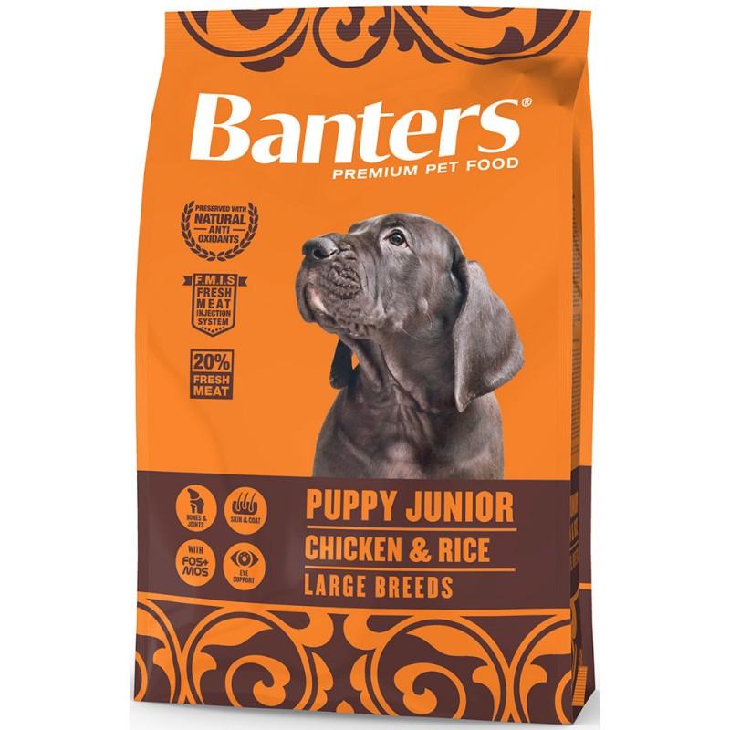 Сухой корм для щенков Banters Puppy Junior Large курица с рисом 3 кг