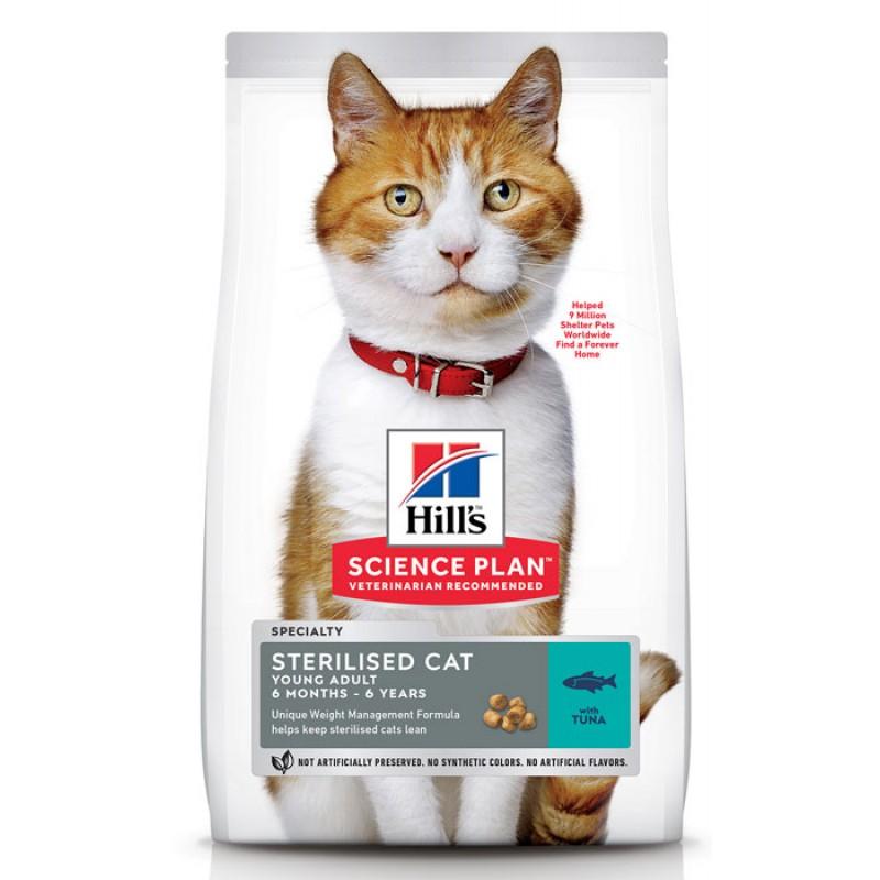 Сухой корм для кошек Hills Science Plan Sterilised Cat Young Adult Tuna 10 кг