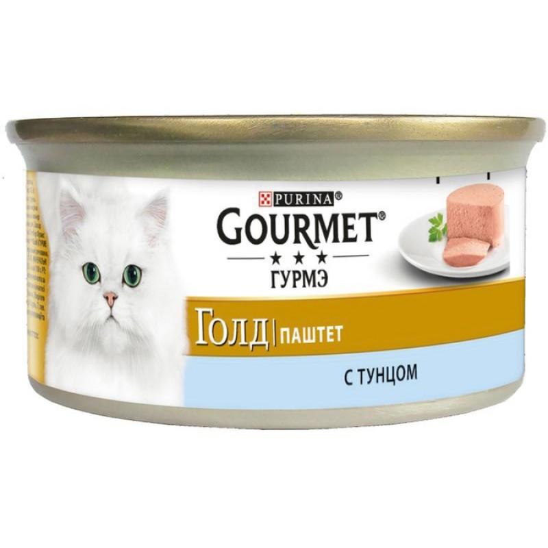 Влажный корм для кошек Gourmet Gold паштет с тунцом 0,085 кг