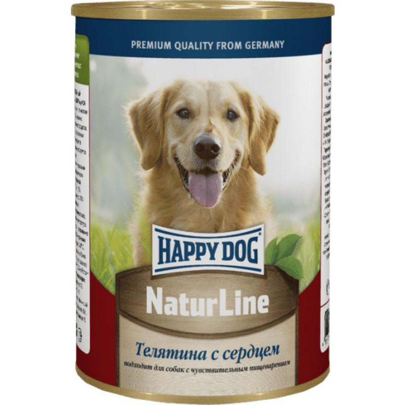 Влажный корм для собак Happy Dog телятина с сердцем 0,4 кг