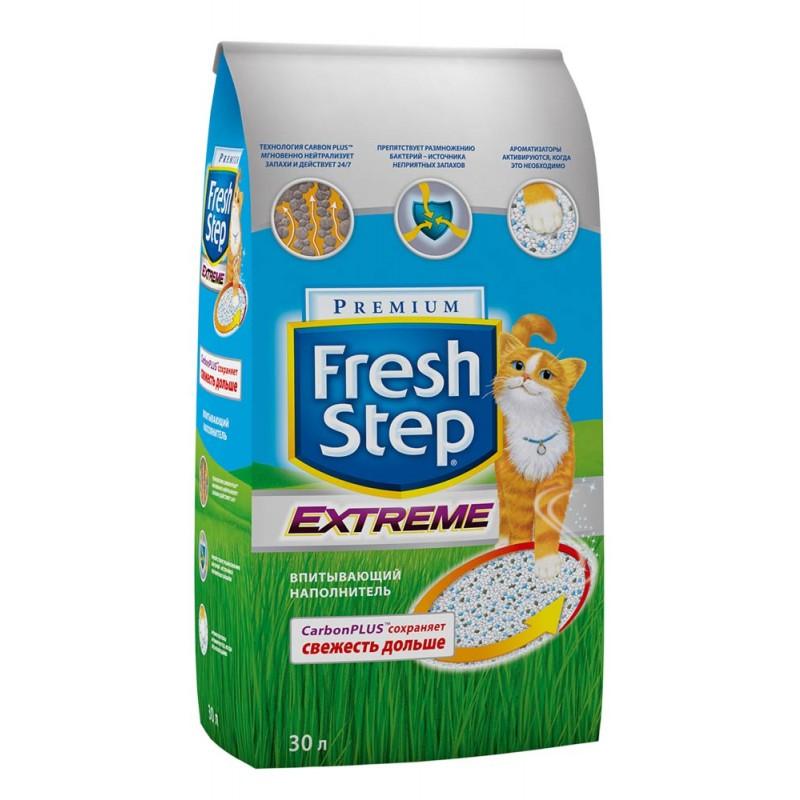Наполнитель Fresh Step Extreme впитывающий цеолит без запаха 15,8кг 30 л