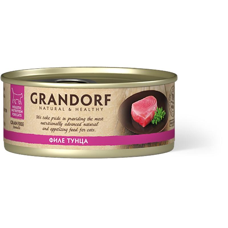 Влажный корм для кошек Grandorf Филе тунца 0,07 кг
