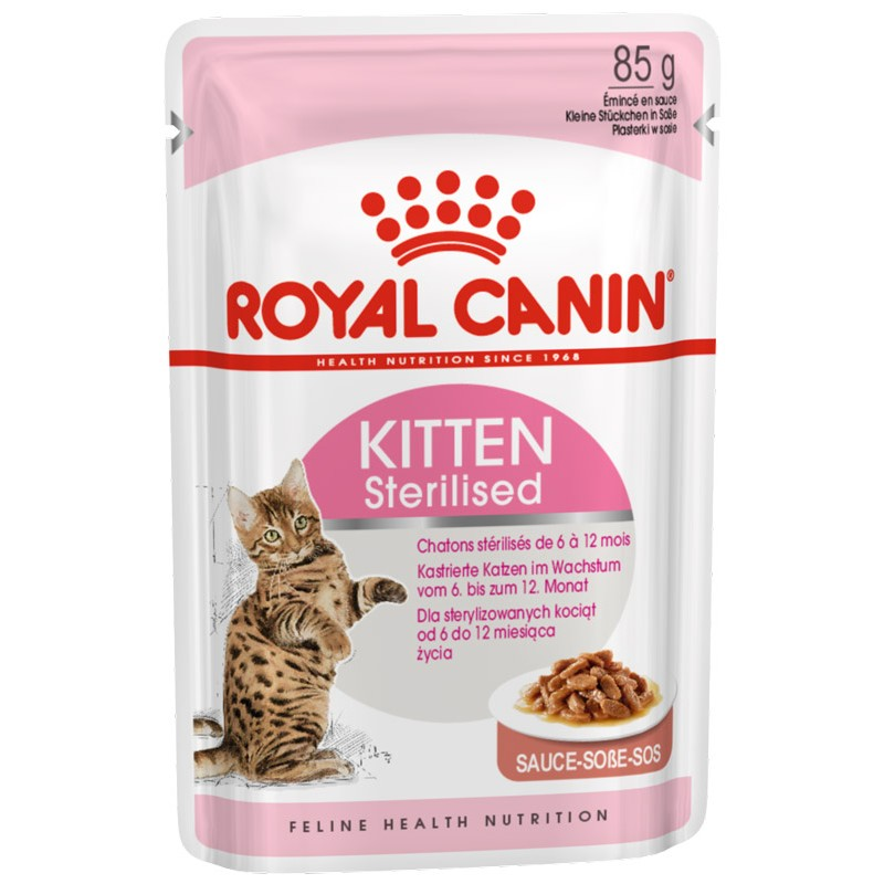 Влажный корм для котят Royal Canin Kitten Sterilised в соусе 0,085 кг