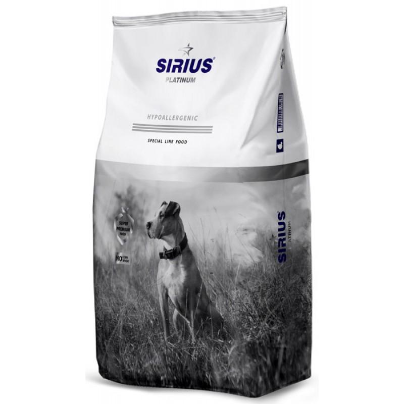 Сухой корм для собак Sirius Platinum Утка с овощами 12 кг