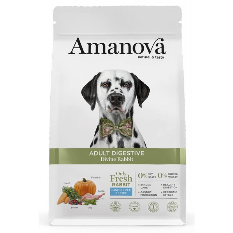 Сухой корм для собак Amanova GF Adult Digestive с чувствительным пищеварением с волшебным кроликом 2 кг
