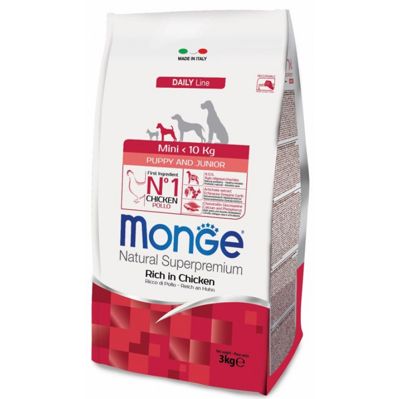 Сухой корм для щенков Monge Mini Puppy & Junior 3 кг