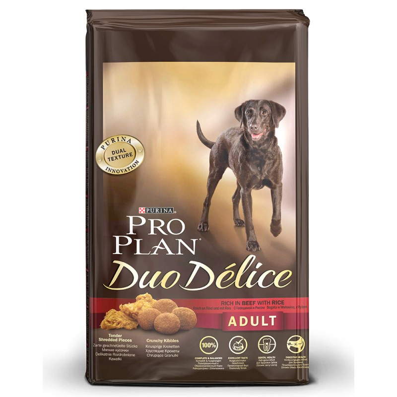 Сухой корм для собак Purina Pro Plan Duo Delice Adult Canine Beef&Rice 10 кг