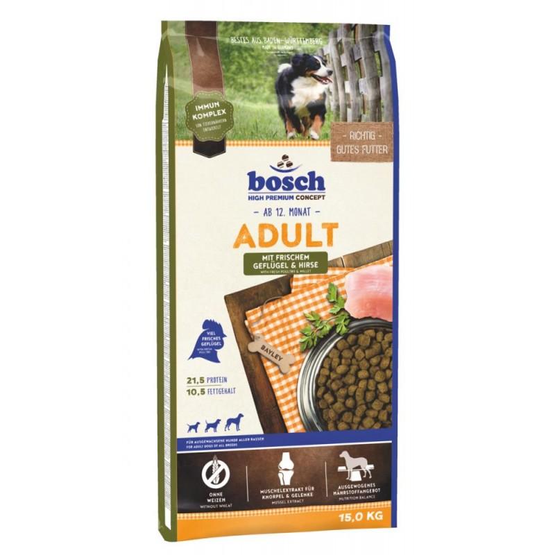 Сухой корм для собак Bosch Adult с птицей и просом 15 кг