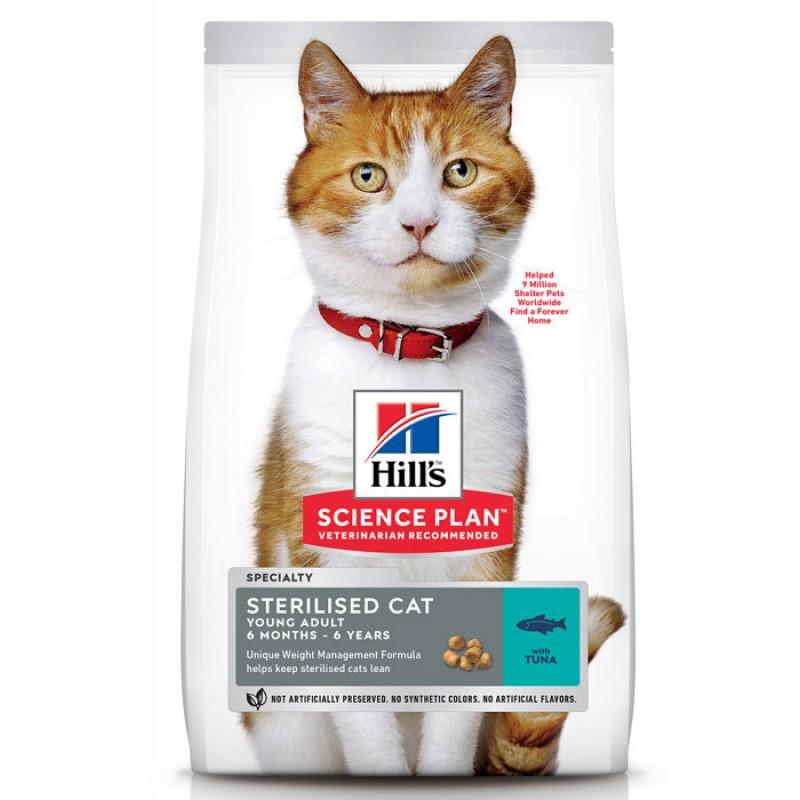 Сухой корм для кошек Hills Science Plan Sterilised Cat Young Adult Tuna 1,5 кг