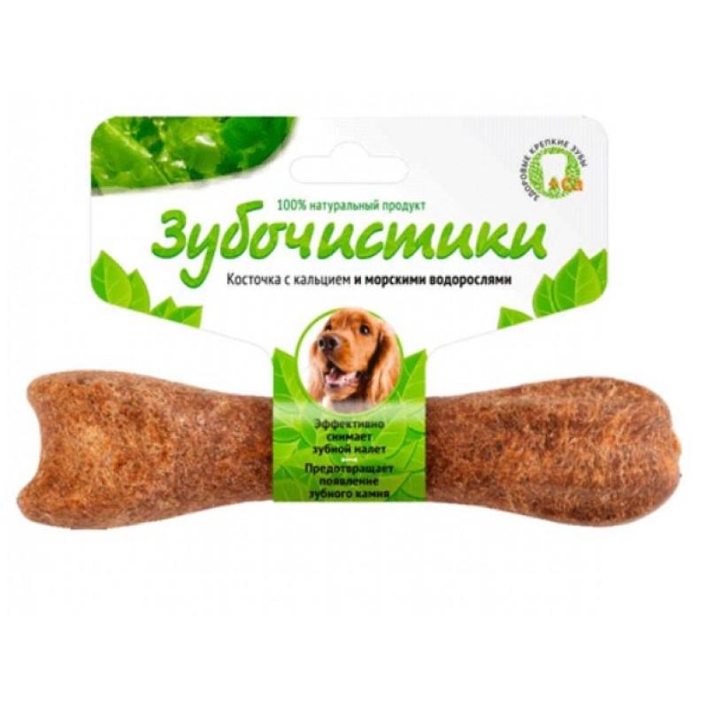 Лакомство для собак средних пород Зубочистики Косточка со вкусом морских водорослей 0,095 кг