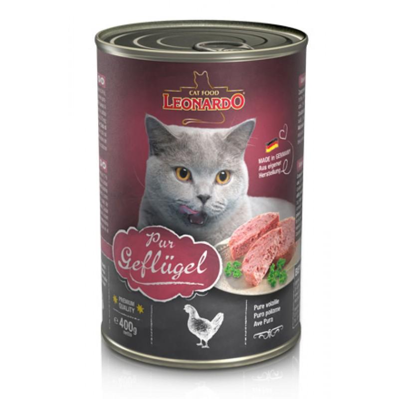 Влажный корм для кошек Leonardo консервы с птицей 0,4 кг