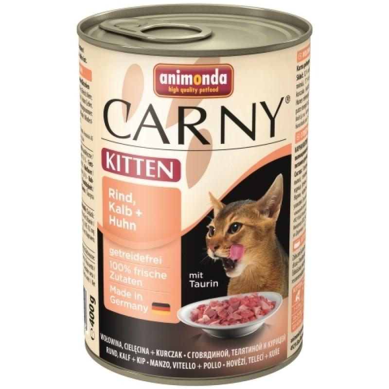 Влажный корм для котят Animonda Carny Kitten для котят с телятиной и курицей 0,4 кг