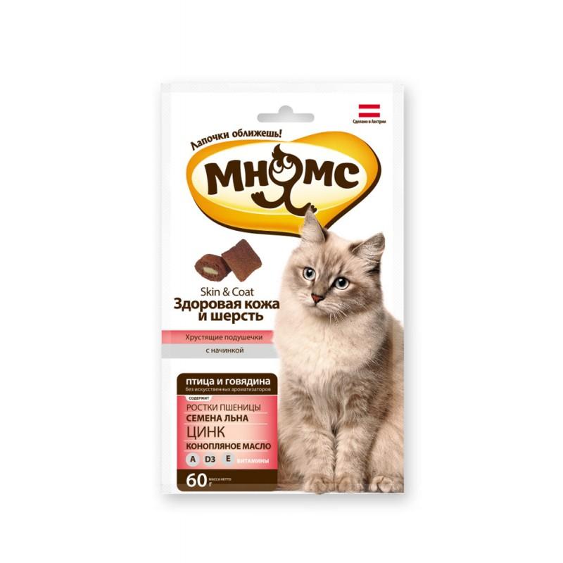Лакомство для кошек Мнямс Здоровая кожа и шерсть 0,06 кг