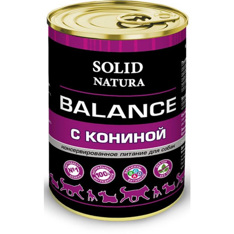 Влажный корм для собак Solid Natura Balance Конина 0,34 кг