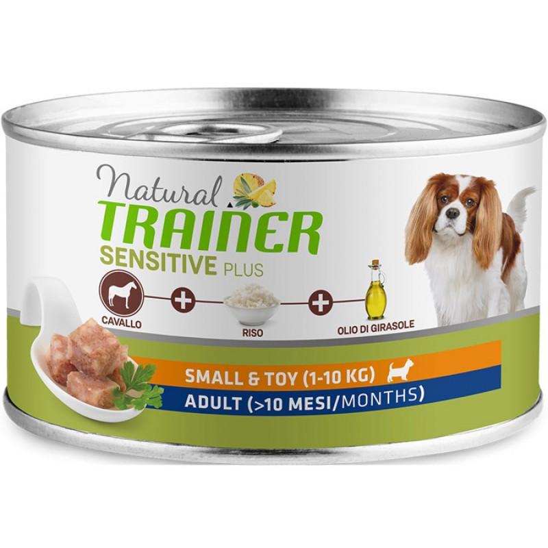 Влажный корм для собак Trainer Sensitive Plus Adult Mini с кониной и рисом 0,15 кг