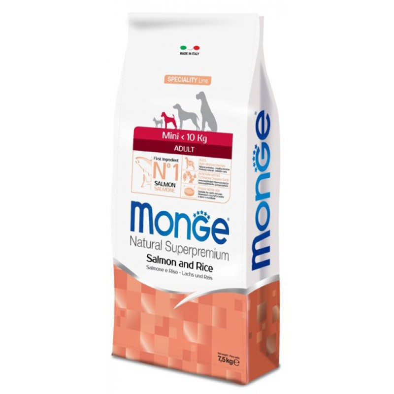Сухой корм для собак Monge Speciality Mini Adult лосось с рисом 0,8 кг
