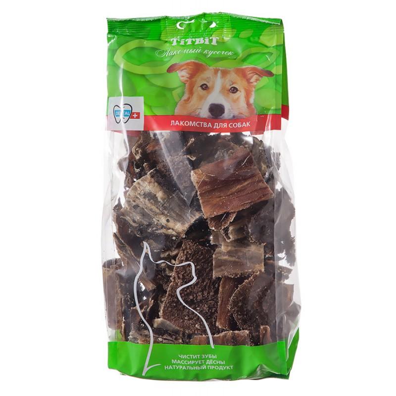 Лакомство для собак Titbit Хрустики из рубца говядины XXL - мягкая упаковка 0,27 кг