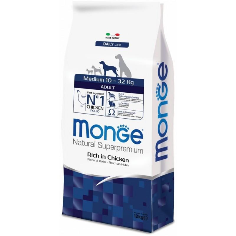 Сухой корм для собак Monge Medium Adult 12 кг