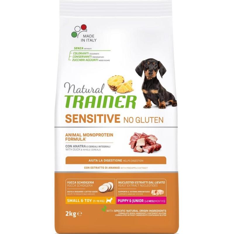 Сухой корм для собак Trainer Sensitive No Gluten Puppy&Junior Mini с уткой 2 кг