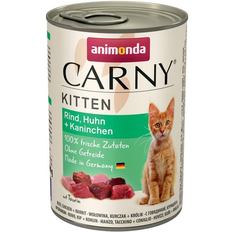 Влажный корм для котят Animonda Carny Kitten Chicken and Rabbit 0,4 кг