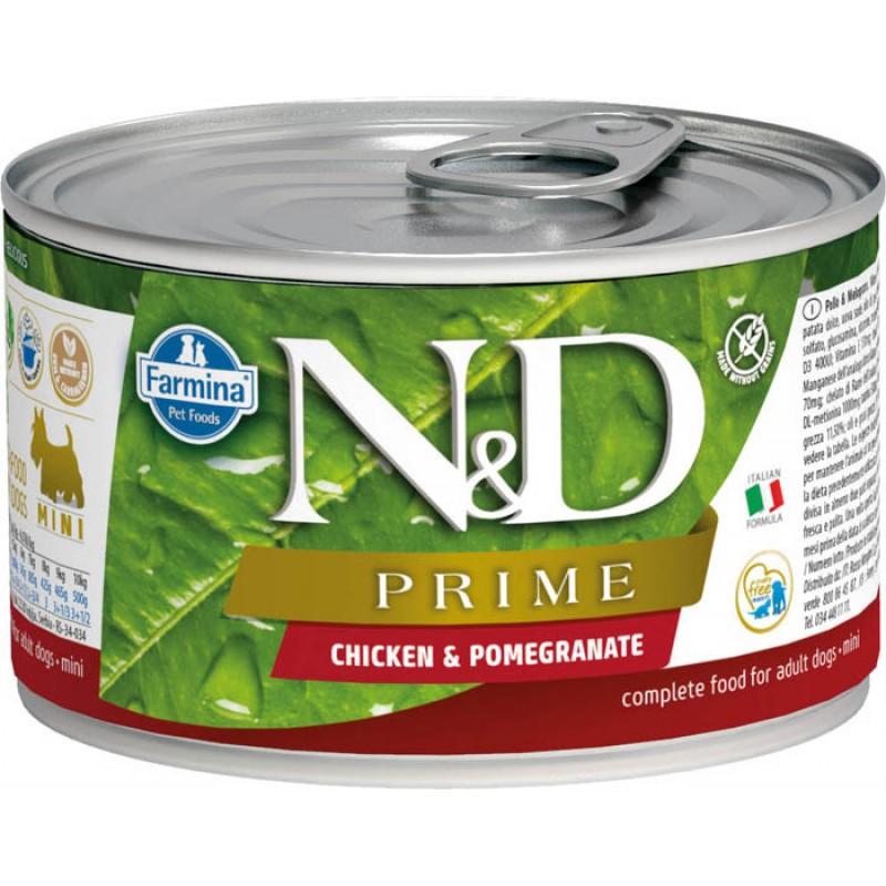 Влажный корм для собак Farmina N & D Rime Chicken & Pomegranate Mini курица с гранатом для маленьких пород 0,14 кг