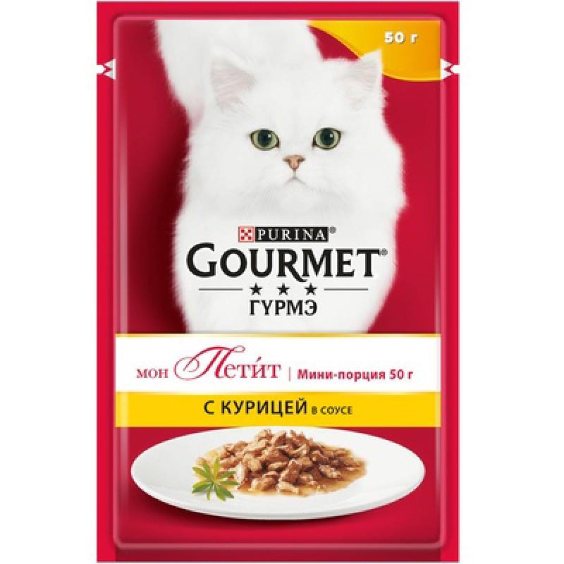 Влажный корм для кошек Gourmet Mon petit пауч с курицей 0,05 кг